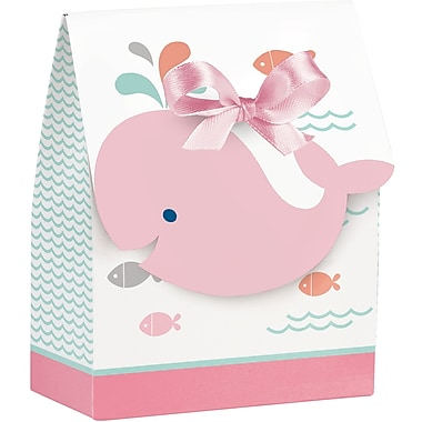 Creative Converting Pink Baby Whale Favor Bags 12 pk (324410)