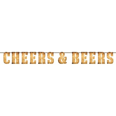 Creative Converting Cheers and Beers Letter Banner