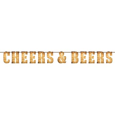 Creative Converting Cheers and Beers Letter Banner (325078)