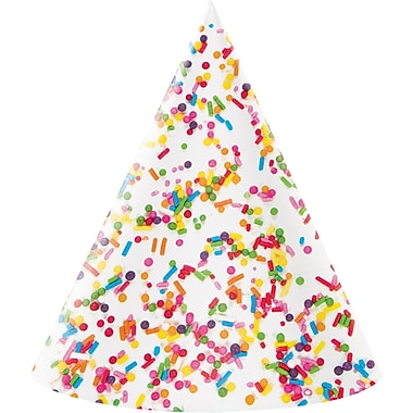 Creative Converting Confetti Sprinkles Party Hat 8 pk (324669)