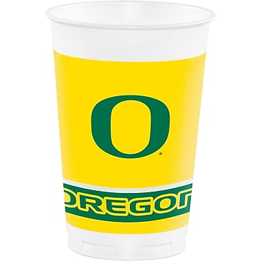 NCAA University of Oregon Plastic Cups 8 pk (379907)