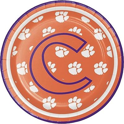 NCAA Clemson University Dessert Plates 8 pk (414831)