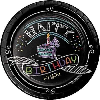 Creative Converting Chalk Birthday Dessert Plates 8 pk (415971)