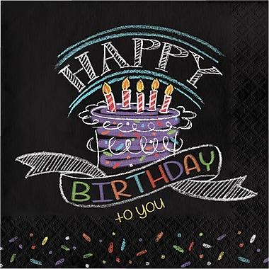 Creative Converting Chalk Birthday Napkins 16 pk (665971)