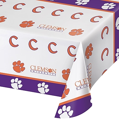 NCAA Clemson University Plastic Tablecloth (724831)