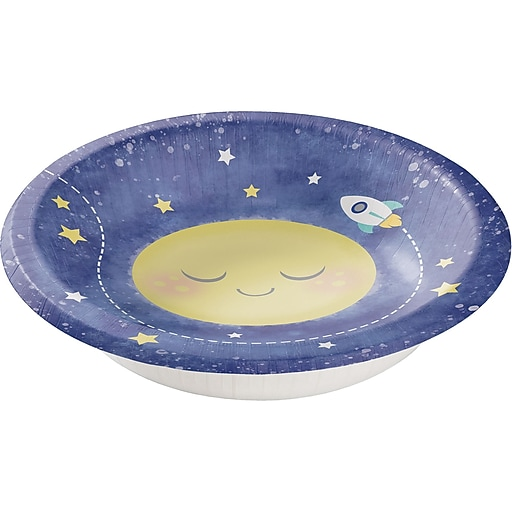 Creative Converting To The Moon And Back Baby ShowerPaper Bowls, 20 Oz.,8/Pack (322280)