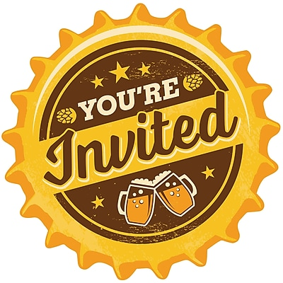 Creative Converting Cheers and Beers Invitations 8 pk (324451)