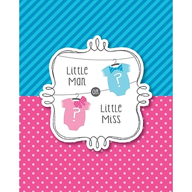 Creative Converting Bow or Bowtie Gender Reveal Invitations 8 pk (897041)