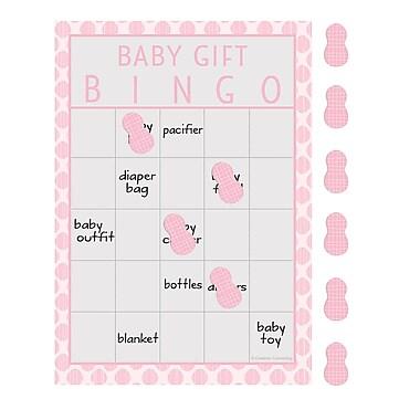Creative Converting Little Peanut Girl Elephant Baby Shower Bingo 10 pk (317227)