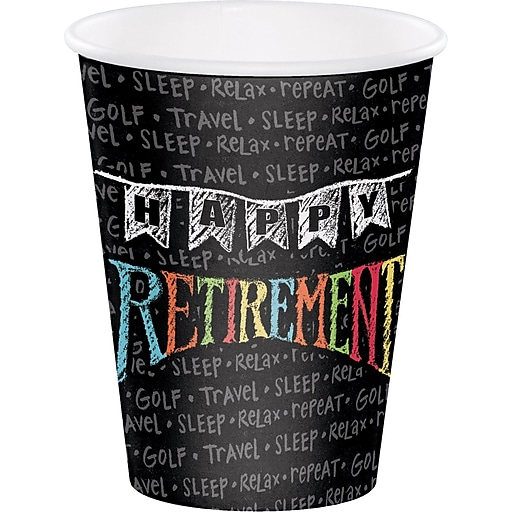 Creative Converting Retirement Chalk Cups, 8/pack (375977)