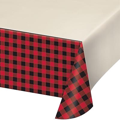 Creative Converting Buffalo Plaid Plastic Tablecloth (322283)