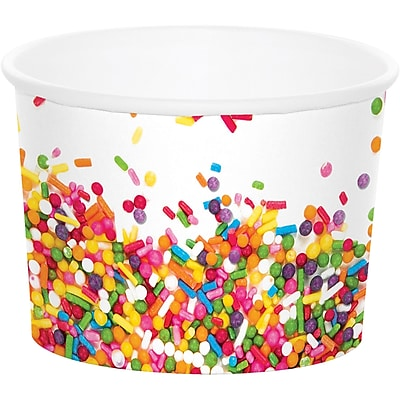 Creative Converting Confetti Sprinkles Treat Cup 6 pk (324675)
