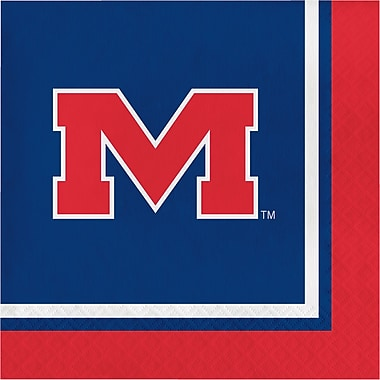 NCAA University of Mississippi Napkins 20 pk (664893)