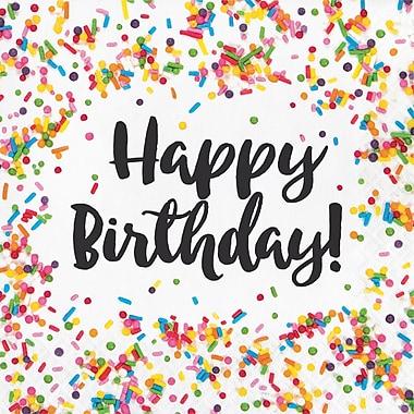 Creative Converting Confetti Sprinkles Birthday Napkins 16 pk (324664)