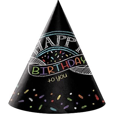 Creative Converting Chalk Birthday Party Hats 8 pk (205971)