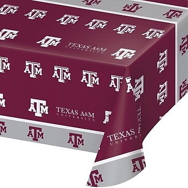 NCAA Texas A and M University Plastic Tablecloth (724848)