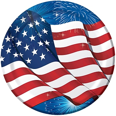 Creative Converting Fireworks and Flags Paper Plates 8 pk (319633)