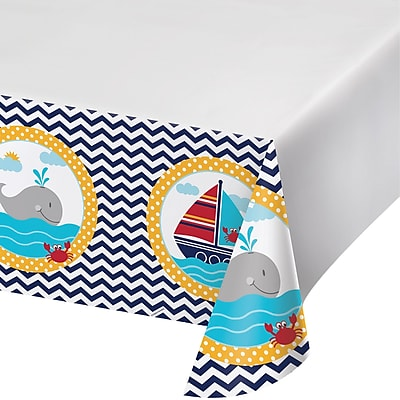 Creative Converting Ahoy Matey Nautical Plastic Tablecloth (727226)