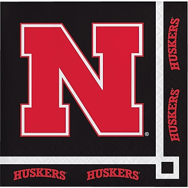 NCAA University of Nebraska Beverage Napkins 20 pk (659853)