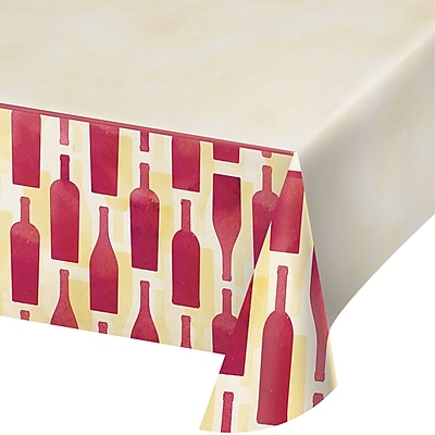 Creative Converting Sip Sip Hooray Wine Plastic Tablecloth (324452)