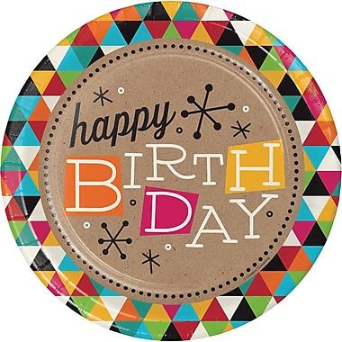Creative Converting Birthday Kraft Paper Plates 8 pk (425980)