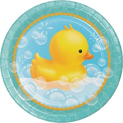 Creative Converting Rubber Duck Bubble Bath Paper Plates 8 pk (427058)