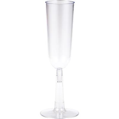 Creative Converting Clear Plastic Champagne Flutes, 7 oz 4 pk (44559)