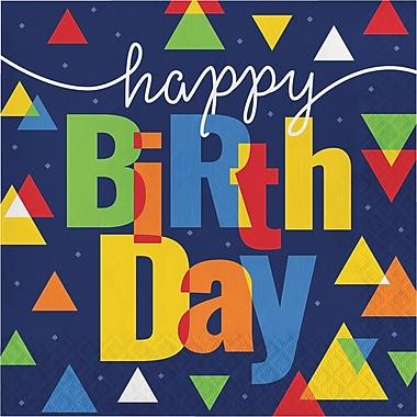 Creative Converting Geo-Pop Birthday Napkins 16 pk (324630)