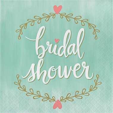 Creative Converting Mint To Be Bridal Shower Napkins 16 pk (324680)