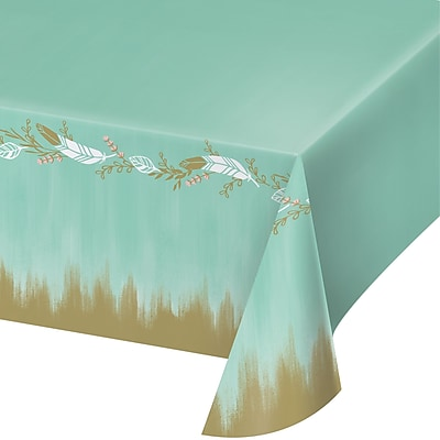 Creative Converting Mint to Be Plastic Tablecloth (324683)