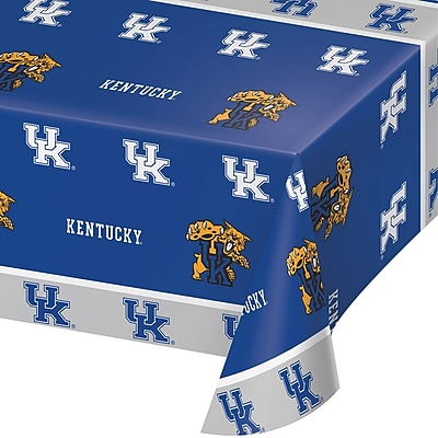 NCAA University of Kentucky Plastic Tablecloth (324856)