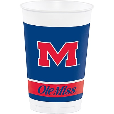 NCAA University of Mississippi Plastic Cups 8 pk (374893)