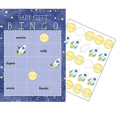 Creative Converting To the Moon and Back Bingo 10 pk (322275)