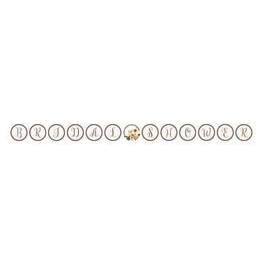 Creative Converting Rose Gold Bridal Shower Ribbon Banner (318157)