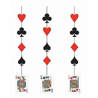 Creative Converting Card Night Hanging Cutouts 3 pk (998630)
