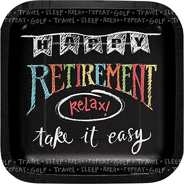 Creative Converting Retirement Chalk Dessert Plates 8 pk (415977)
