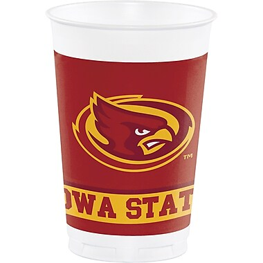 NCAA Iowa State University Plastic Cups 8 pk (374701)