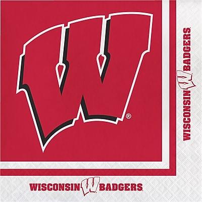 NCAA University of Wisconsin Napkins 20 pk (664858)