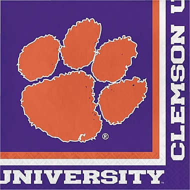 NCAA Clemson University Napkins 20 pk (664831)