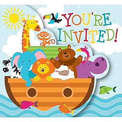 Creative Converting Noah's Ark Invitations 8 pk (317671)