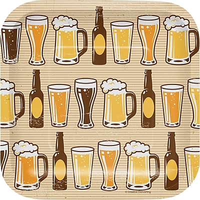 Creative Converting Cheers and Beers Appetizer Plates 8 pk (322281)