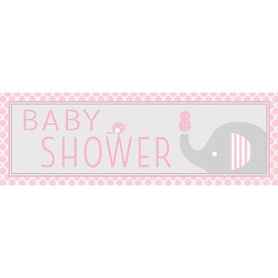 Creative Converting Little Peanut Girl Elephant Giant Baby Shower Banner (317223)