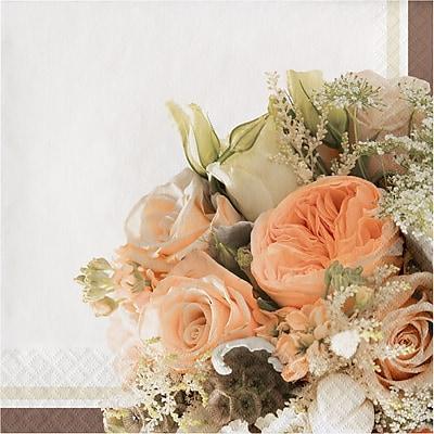 Creative Converting Rose Gold Bouquet Napkins 16 pk (318154)