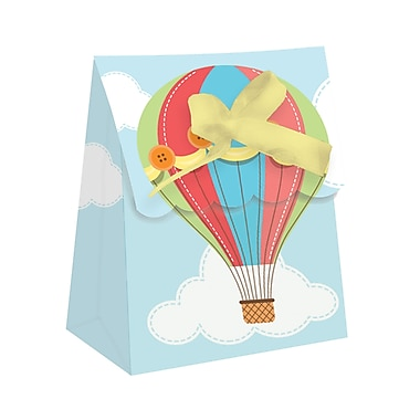 Creative Converting Up, Up, and Away Hot Air Balloon Favor Bags 12 pk (315328)