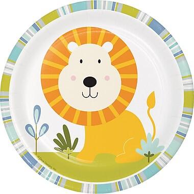 Creative Converting Happy Jungle Dessert Plates, Lion 8 pk (324578)