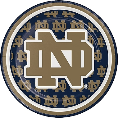 NCAA University of Notre Dame Dessert Plates 8 pk (414842)