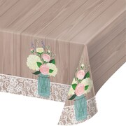 Creative Converting Rustic Wedding Plastic Tablecloth (728706)
