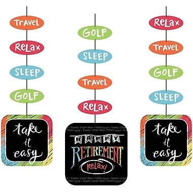 Creative Converting Retirement Chalk Hanging Cutouts 3 pk (995977)