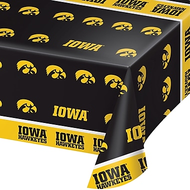 NCAA University of Iowa Plastic Tablecloth (729900)