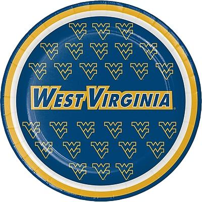 NCAA West Virginia University Dessert Plates 8 pk (414895)
